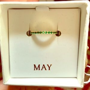 May Emerald Birthstone Ring size 8